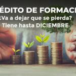 ÚLTIMOS MESES PARA APROVECHAR EL CRÉDITO DE FORMACIÓN